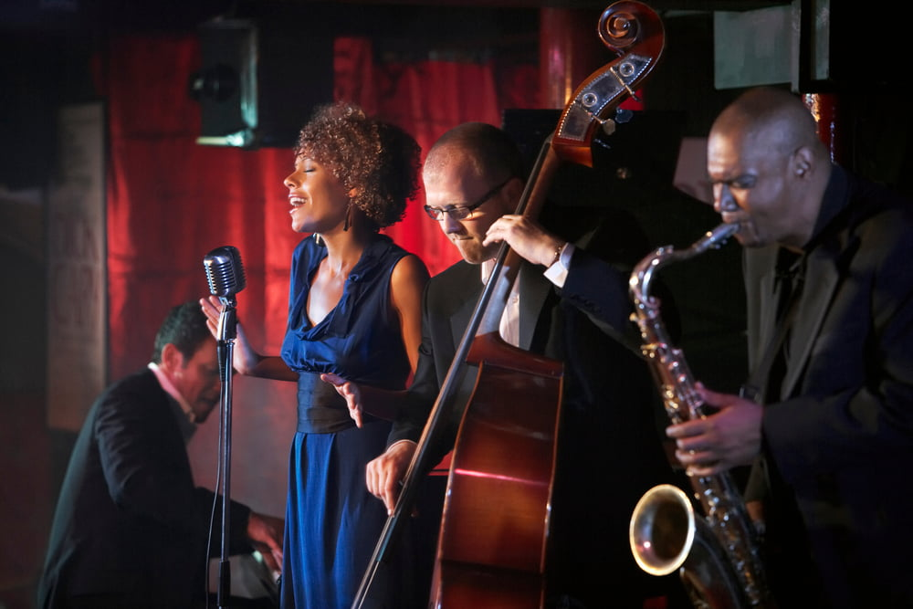Jazz,Band,Performing,In,Nightclub