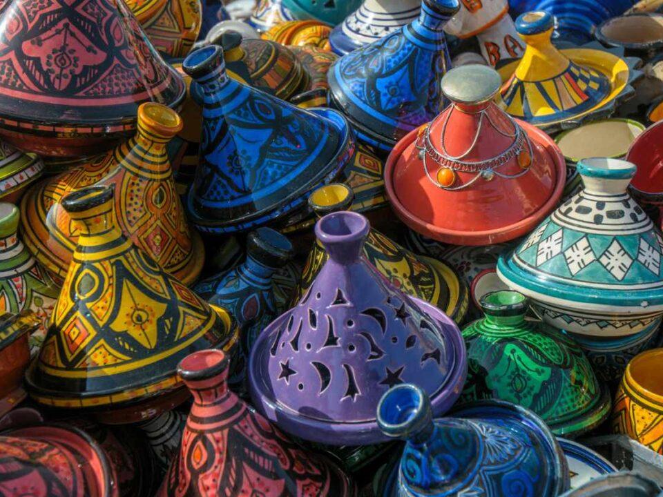 colorful Tajine pots