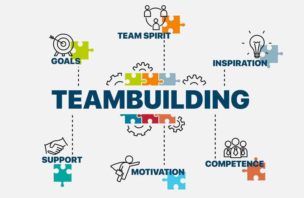 Teambuilding Vektorgrafik