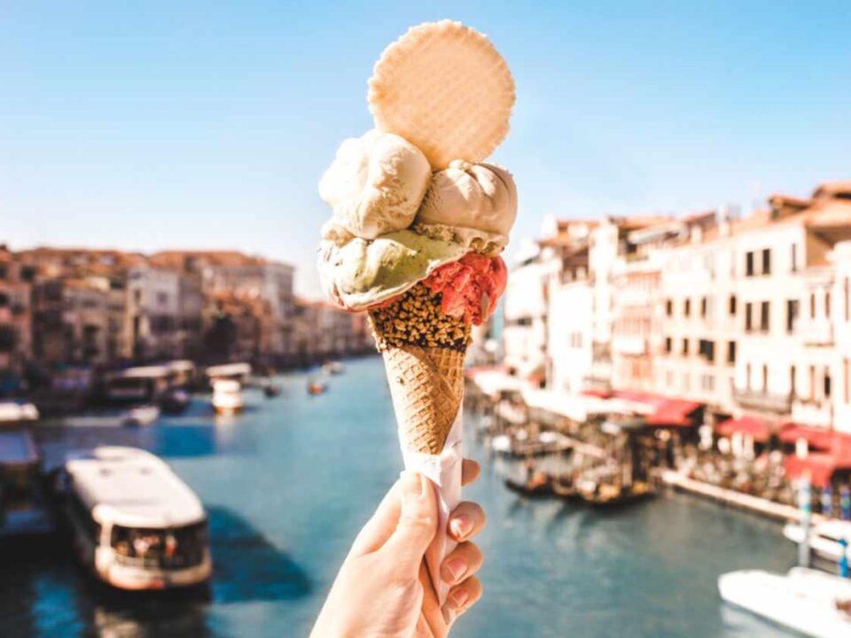 Eis in Venedig