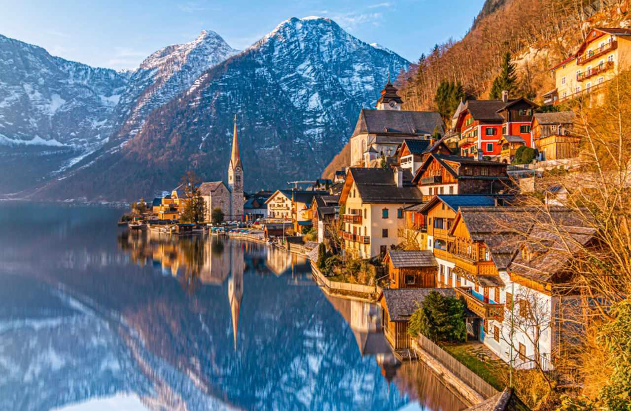 Hallstadt in Österreich